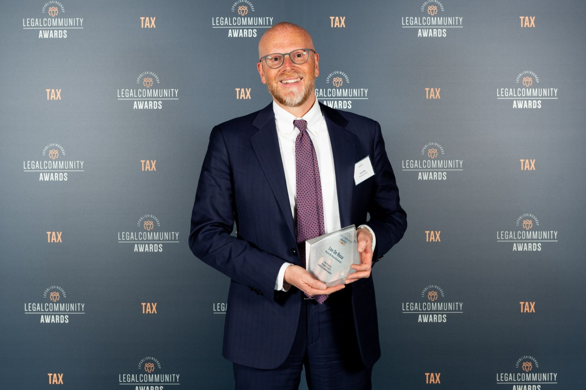 Leo De Rosa winner at Legalcommunity Tax Awards 2019 as Best Practice Private Clients & Wealth Management