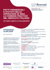 """Andrea De Panfilis speaker at """"Patti parasociali e statuti nelle operazioni di M&A: le common practice nel mercato italiano"""" organized by SDA Bocconi"""
