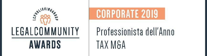 Leo De Rosa vincitore ai Legalcommunity Corporate Awards nella categoria Professionista dell'anno Tax M&A