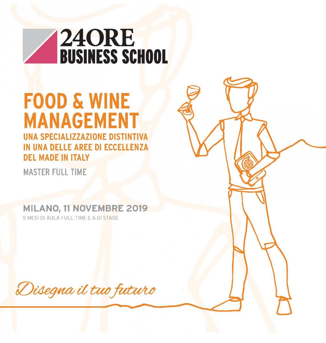 """Andrea De Panfilis, Caterina Giacalone e Alberto Passera docenti al Master """"Food & Wine Management"""" organizzato da 24Ore Business School"""