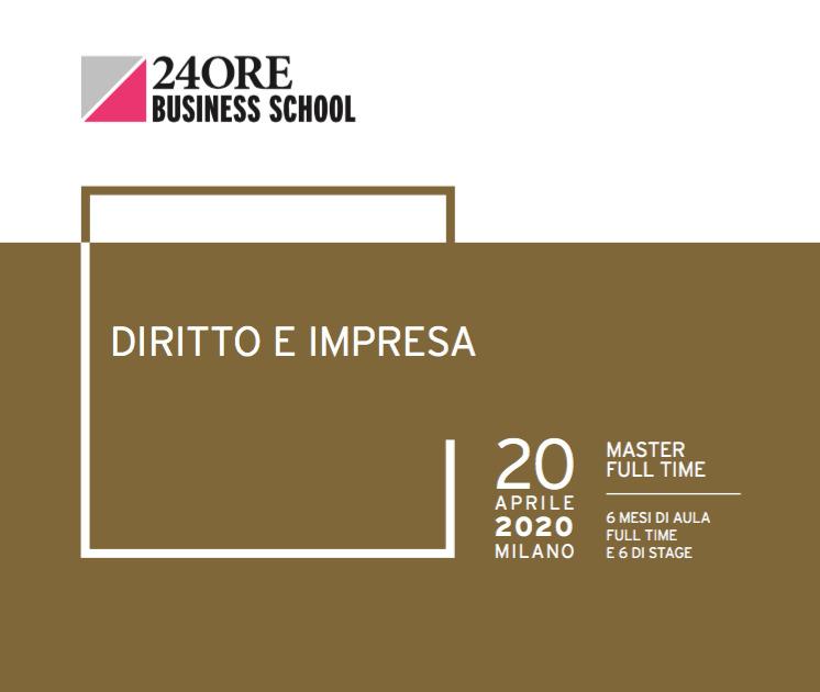 Gianmarco Di Stasio e Alberto Greco docenti al Master Diritto e Impresa della 24ORE Business School