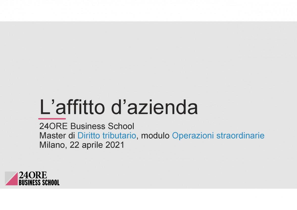 Andrea Bolletta, Libera Martini e Francesca Bassoli relatori al Master di Diritto Tributario organizzato dalla 24ORE Business School