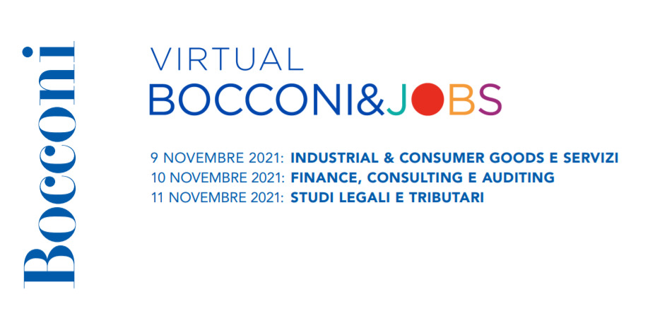 Career Day Università Bocconi 11 Novembre 2021