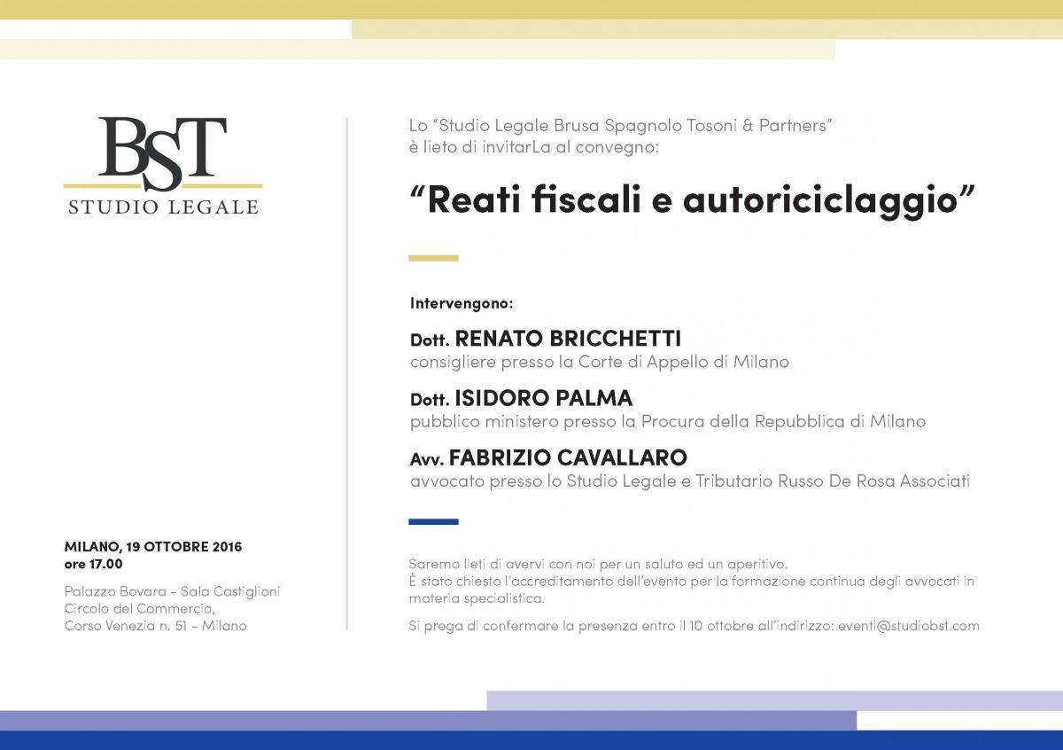 """Fabrizio Cavallaro interviene al convegno """"Reati fiscali e autoriciclaggio"""""""