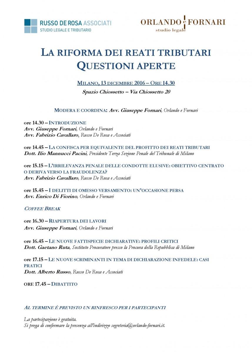 La riforma dei reati tributari - Questioni aperte