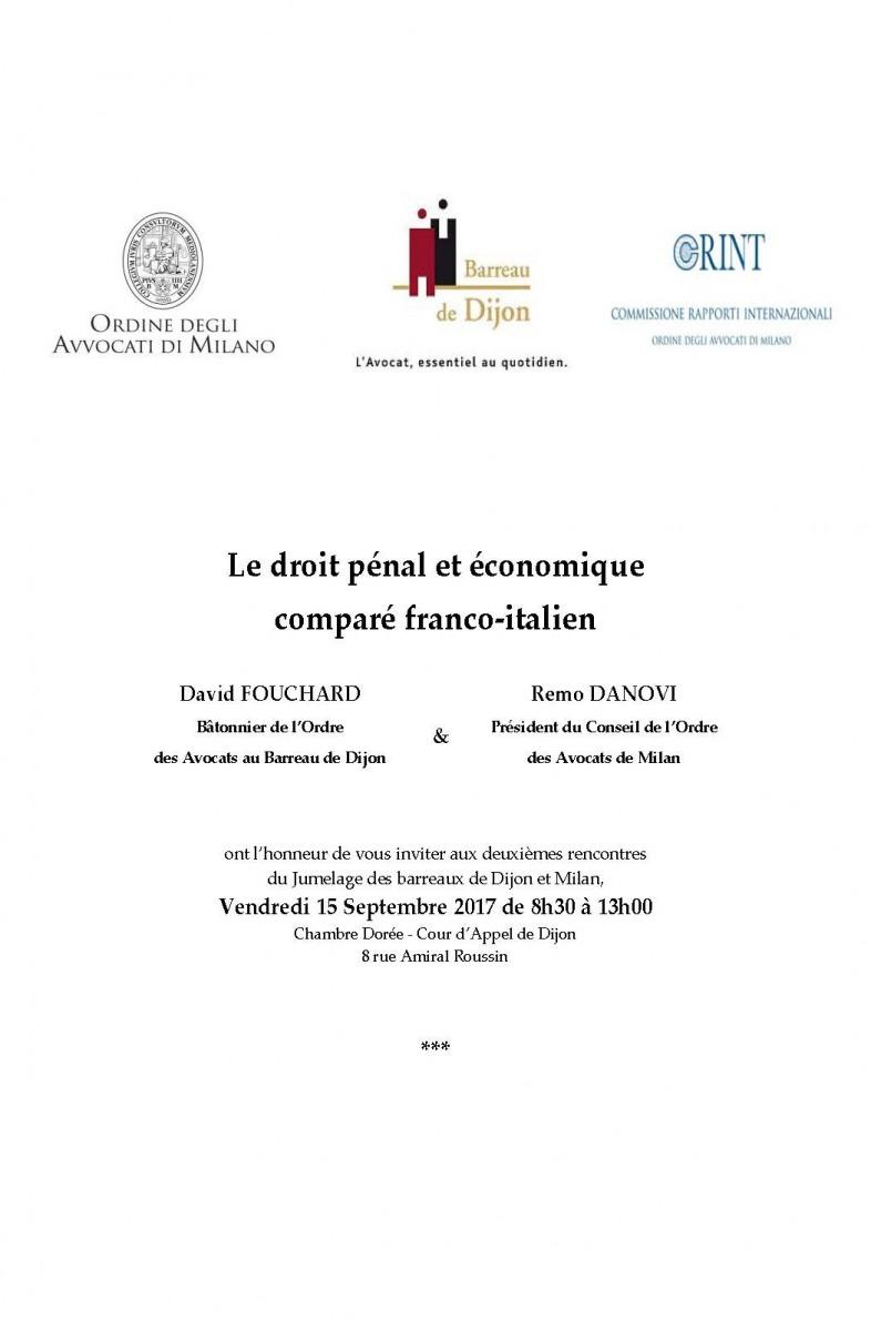 Gianmarco Di Stasio relatore al convegno Le droit économique comparé franco- italien