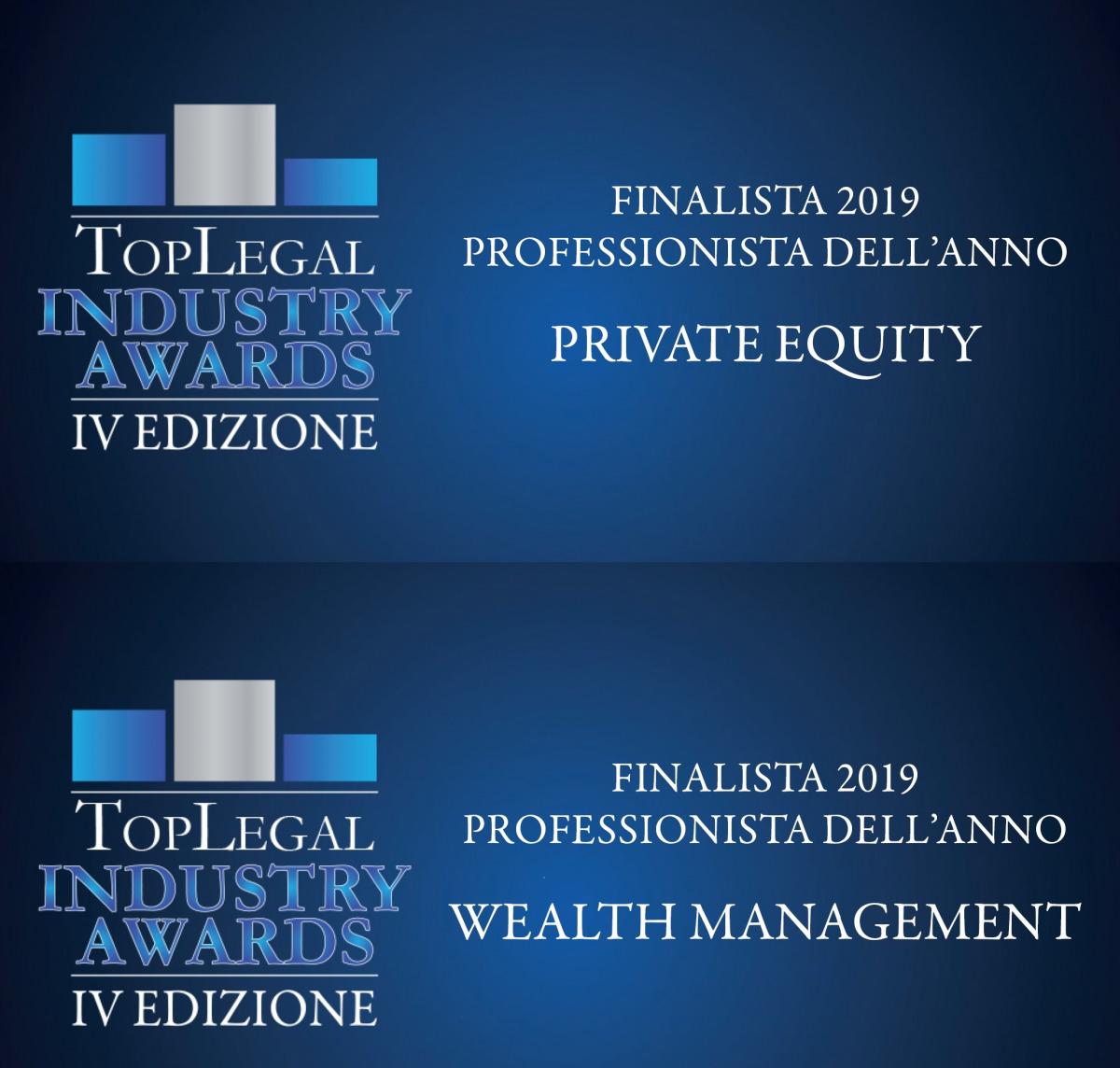 Leo De Rosa nominee at Top Legal Industry Awards 2019