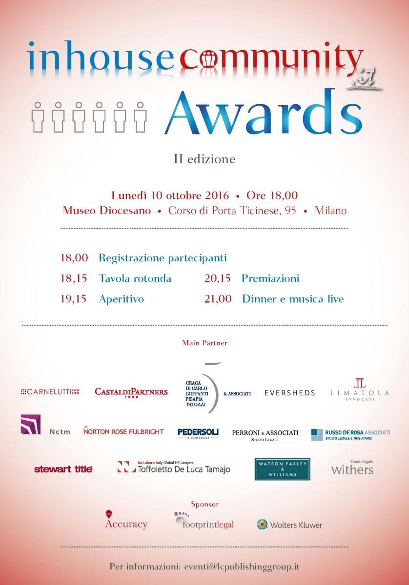 Russo De Rosa Associati main partner at Inhousecommunity Awards