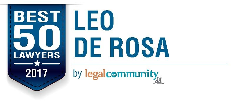 Leo De Rosa among Legalcommunity Best 50 Lawyers