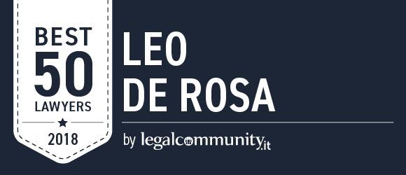 Leo De Rosa tra i Best 50 Lawyers di Legalcommunity