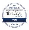 Lo Studio riconosciuto da Top Legal Ranked In 2019 nella categoria Tax