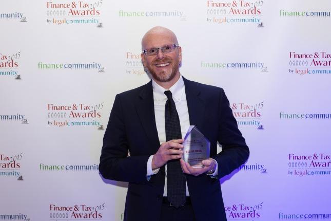 """Leo De Rosa: premio come """"Professionista dell'anno - Consulenza Fiscale"""""""