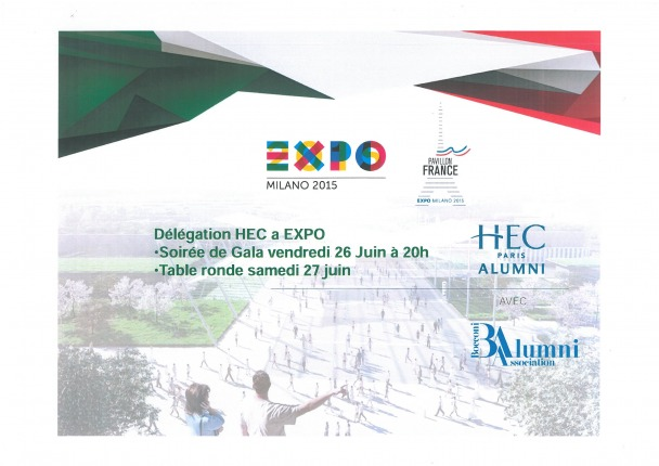Russo De Rosa Associati partner dell'evento organizzato da HEC Paris Alumni e Bocconi Alumni association in occasione di Expo 2015