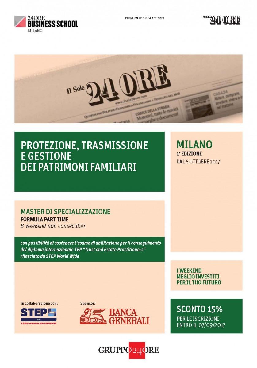 """Andrea Bolletta relatore al Master  STEP """"Protezione, Trasmissione e Gestione dei Patrimoni Familiari"""""""